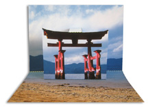 Torii Gate pop-up to make, by artist Carol Barton
